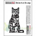 Stempel gumowy cling Darkroom Door  Sitting cat - kot