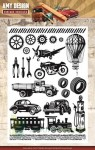 Stemple Amy Design Vintage Vehicles pojazdy, balon, tryby