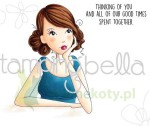 Stempel Stamping Bella Thinking of you - dziewczyna