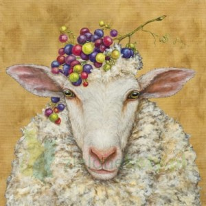 Serwetka 25x25cm owca (Vineyard sheep)