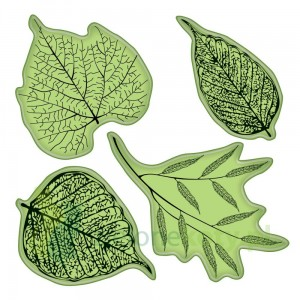Stemple gumowe cling Inkadinkado Fossil Leaves