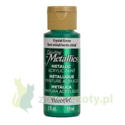 Farba metaliczna DecoArt Dazzling Metallics 59ml Crystal Green
