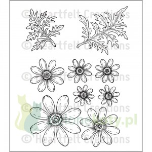 Stemple Heartfelt Creations Deligtful Daisies kwiatki
