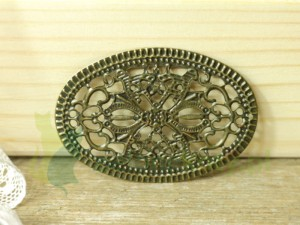 ornament owalny metal 5,5cm