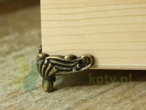 Nóżka metalowa do pudełek, szkatułek średnia
