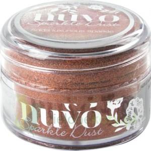 Brokat bardzo drobny NUVO Sparkle Dust Cinnamon spice 15ml