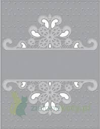 Folder do embosingu  z wykrojnikiem Spellbinders Dotted Lace