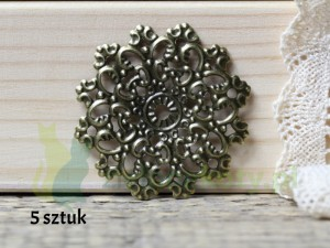ornament metal okrągły 4,5cm