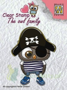 Stempel Nellie's Choice The owl family sowa pirat
