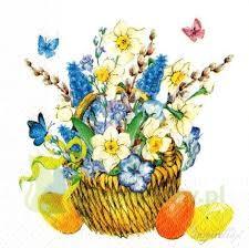Serwetka 33x33cm wiosenne kwiaty TL662000