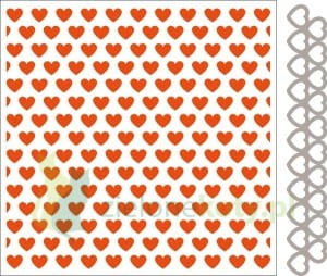 Wykrojnik + folder do Embbosingu Marianne Design Hearts serca