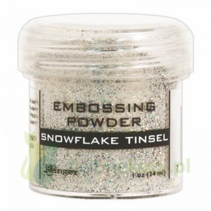 Puder do embossingu Ranger snowflake tinsel