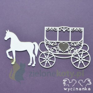 Wycinanka Wycinanka BEAUTIFUL WEDDING koronkowa kareta śub