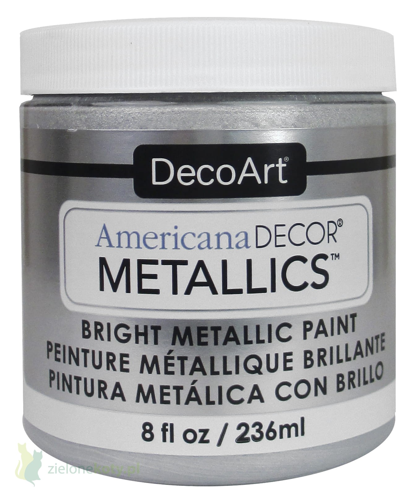 Farba Metaliczna Americana Decor Metallics Silver Srebrna 236ml