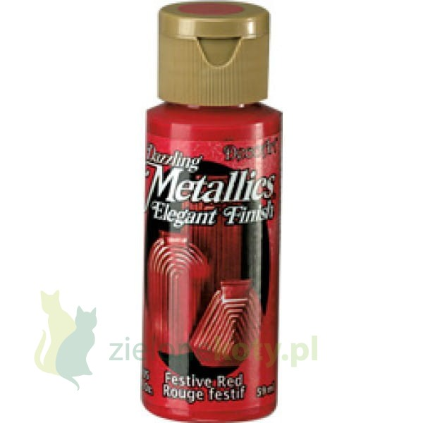 Farba Metaliczna Decoart Dazzling Metallics 59ml Festive Red