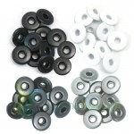 "Nity We R Memory Keepers Grey eyelets  5mm (3/16"") szerokie"