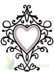 Folder do embossingu + wykrojnik Nellies Choice HEART SWIRLS, ornamenty, serce