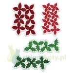 Wykrojnik Heartfelt Creations Poinsettia & Holly Clusters kwiatek