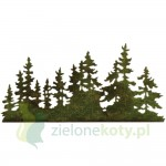 Wykrojnik Sizzix Thinlits Tree Line choinki