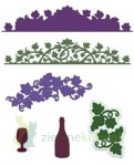 Wykrojnik Heartfelt Creations Italiana Grape Clusters - winorośl, wino