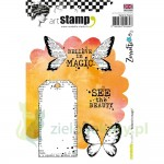 Stemple Carabelle Studio Believe in magic tag motyl