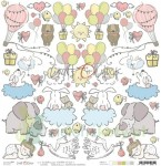 Papier 30x30 Craft o Clock Sweet Princess - dodatki do wycinania - I