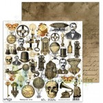 Papier 30x30 AB Studio Steampunk love elementy do wycinania