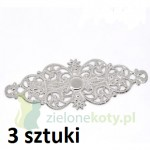 ornament metal 6cm / 3szt. kolor srebrny
