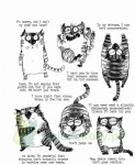 Stemple gumowe Tim Holtz Snarky Cat koty
