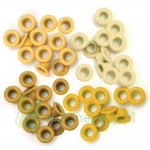 "Nity We R Memory Keepers Yellow eyelets  5mm (3/16"") 60szt żółte"