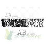Stempel gumowy AB Studio Washi tape border
