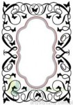 Folder do embossingu + wykrojnik Nellies Choice Oval Swirls ramka