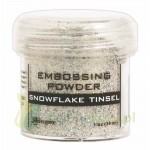 Puder do embossingu Ranger snowflake tinsel srebrny brokat