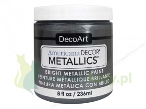 Farba metaliczna Americana Decor Metallics tin grafit 236ml