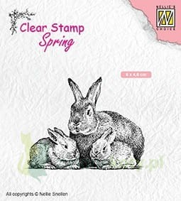 Stempel Nellie's Choice Rabbit Family zające