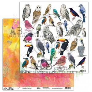Papier 30x30 AB Studio Birds World ptaki