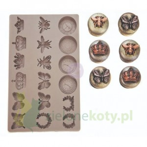 Forma foremka silikonowa Prima Moulds regal findings owady, zegary, korona