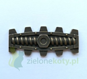 Dekor metalowy steampunk 45x20mm