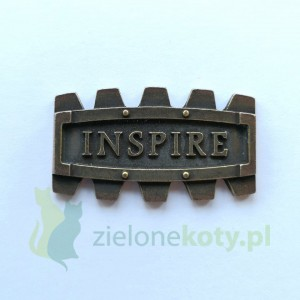 Dekor metalowy INSPIRE steampunk 40x23mm