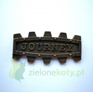 Dekor metalowy JOURNEY steampunk 50x25mm