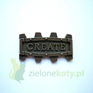 Dekor metalowy CREATE steampunk 40x23mm