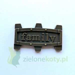 Dekor metalowy FAMILY steampunk 40x23mm