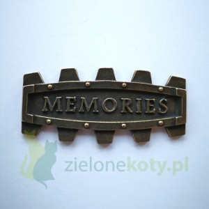 Dekor metalowy MEMORIES steampunk 50x23mm