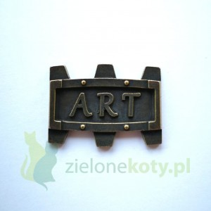 Dekor metalowy ART steampunk 30x23 mm