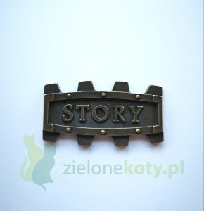 Dekor metalowy STORY steampunk 40x23 mm