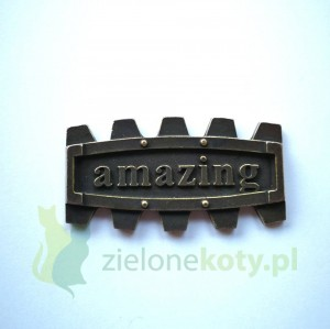 Dekor metalowy AMAZING steampunk 42x23 mm