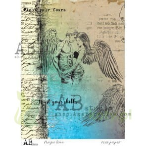 Papier ryżowy decoupage  AB Studio A4 - Magic time angel x
