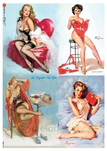 Papier ryżowy decoupage  Paper Designs A4 pin-up girls
