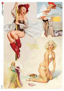 Papier ryżowy decoupage  Paper Designs A4 pin-up girls Marilyn