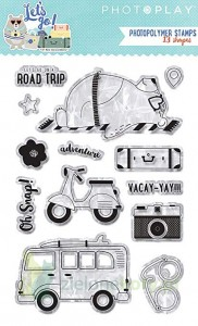 Stempel akrylowy PhotoPlay Let's go wakacje camping
